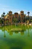 Monumenten van Sevilla in Park Maria Luisa Stock Afbeeldingen