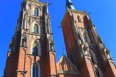 Monumenten in Wroclaw, Polen royalty-vrije stock afbeelding