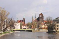 Monumenten in Wroclaw, Polen royalty-vrije stock foto's
