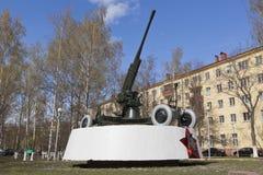 Monumentenartilleristen - Vologda-wachten van hemel binnen Grote Patriottische Oorlog Stock Foto's