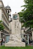 Monumentenau General DE Beylie, Victor Hugo Square, Grenoble royalty-vrije stock afbeelding