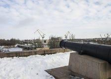 Monumentenkanon De winter, de Oekraïne Stock Foto's