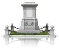 Monumententribune met zwarte kettingsomheining Stock Foto