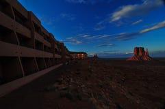 Monumentenvallei bij Zonsondergang Stock Afbeeldingen