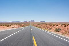 Monumentenvallei en U S Route 163 Royalty-vrije Stock Foto
