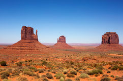 Monumentenvallei Utah de Vuisthandschoenen Royalty-vrije Stock Afbeeldingen