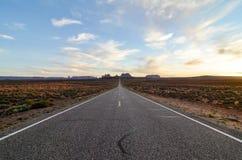 Monumentenvallei, weg die 163, Utah, zonneschijn gelijk maken Stock Foto's