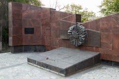 Monumentet är en infanteriuppdelning för massgrav 45 av ett namn av S Royaltyfri Fotografi