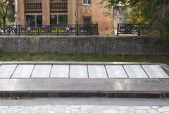 Monumentet är en infanteriuppdelning för massgrav 45 av ett namn av S Fotografering för Bildbyråer