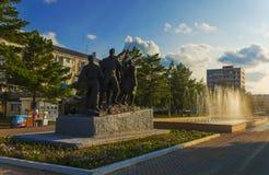 Monumentet av banbrytarna Royaltyfria Foton