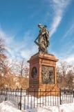 Monumentet av den ryska historiker och författaren Karamzin royaltyfri bild