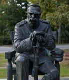 Monumentet av Jozef Pilsudski har lokaliserats i Sulejowek nära Warszawa A royaltyfri bild