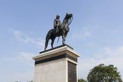 Monumentet av konungen Rama Five, Thailand Arkivbilder