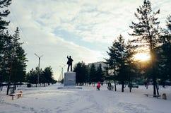 Monumentet av Lenin Arkivbild