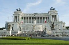 Monumentet av Vittorio Emanuel Arkivbilder