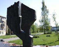 Monumentet göras av gjutjärn - Ryssland - Berezniki 10 Juni 2017 Arkivfoto