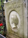 Monumentet i cementary Paris Arkivfoton