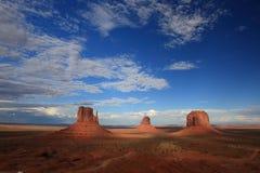 monumentet shadows dalen Arkivfoto