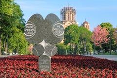 Monumentet som var hängiven till barnen, dödade i bombningen av Belgrade Arkivfoton