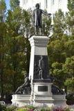 Monumentet till Brigham Young och banbrytarna i Salt Lake City, Utah arkivbilder
