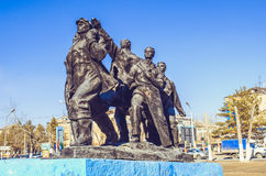 Monumentet till de första byggmästarna Royaltyfri Foto