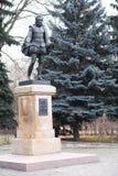 Monumentet till den stora spanska författaren Miguel de Cervantes Saavedra, parkerar `-kamratskap`, Moskva Royaltyfri Bild
