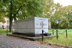 Monumentet till & x22en; WALDAU 1914-1918& x22; vilka har förgåtts i dagar av världskrig I Arkivfoto
