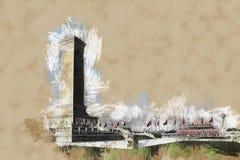 Monumentet till hjältarna för folk` s på Tian `-anmen kvadrerar, Peking Arkivbild