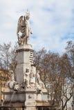 Monumentet till Marquis de Campo Sagrado barcelona spain Arkivfoto