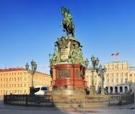 Monumentet till Nicholas mig i St Petersburg fotografering för bildbyråer