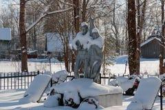 Monumentet till nionde av kan dolt med snö Arkivfoton
