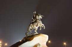 Monumentet till Peter The Great Arkivbild