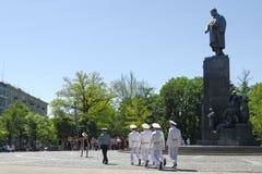 Monumentet till Taras Shechenko i Kharkov Royaltyfria Bilder