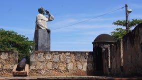 Monumentfrans Anton de Montesinos, vapen, vakt, sen Arkivfoton