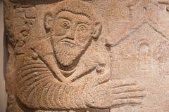Monumenti cristiani antichi al museo nazionale georgiano - Tbilisi Immagini Stock Libere da Diritti