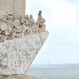Monumenti dei conquistadores, città di Lisbona, Europa Fotografie Stock Libere da Diritti