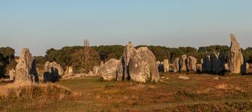 Monumenti megalitici in Carnac Fotografia Stock Libera da Diritti