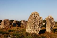 Monumenti megalitici in Carnac Immagini Stock Libere da Diritti