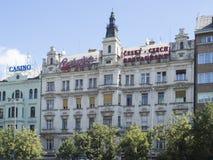 Monumenti storici al viale dello stà del› del mÄ del ¡ del nà del clavské del ¡ di Và a Praga Fotografia Stock