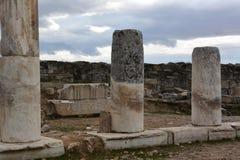 In monumenti storici di periodi antichi Impero romano e Hierapolis fotografia stock