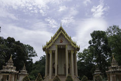 Monumenti storici tailandesi in tempio tailandese Fotografie Stock Libere da Diritti