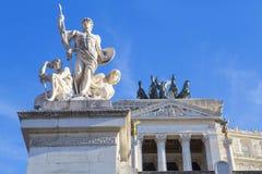 Monumenti sull'altare della patria Fotografie Stock