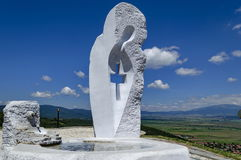 MonumentJungfrau Maria herrscht herein Mali-Stadt oder Absolvent Stari Mali vor Lizenzfreies Stockfoto