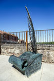 Monumento à casa dos espanhóis escritos Imagem de Stock