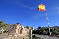 Monumento à descoberta de América Jardins da descoberta no quadrado de Columbo Madrid, Spain fotos de stock