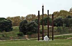 Monumento à independência-Arenys de Munt Fotos de Stock