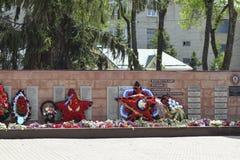 Monumento à memória dos libertadores inoperantes das guerras do exército fascista Flama eterno Foto de Stock