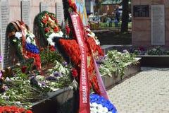Monumento à memória dos libertadores inoperantes das guerras do exército fascista Flama eterno Foto de Stock Royalty Free
