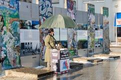 Monumento à parede em Potsdamer Platz Fotos de Stock Royalty Free
