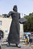 Monumento à primeira impressora Ivan Fyodorov em Lviv, Ucrânia Fotos de Stock Royalty Free
